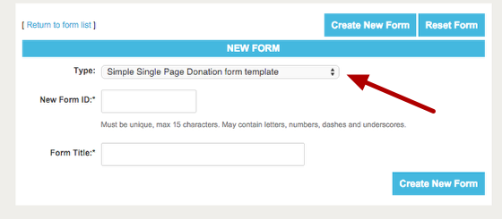 creating a large button donation form thedatabank support center
